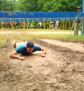 Crawl through quick or get Tazed.
