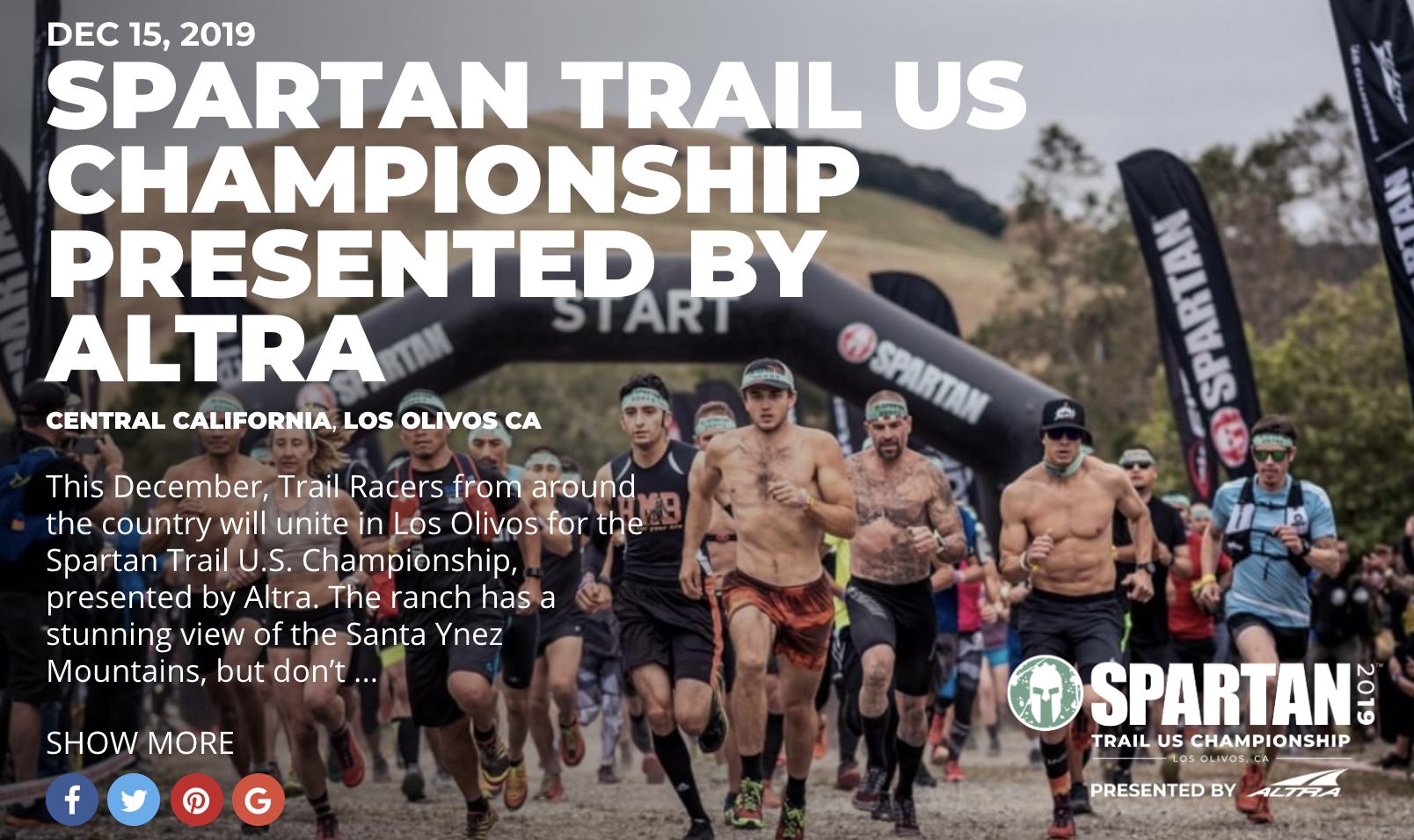 Spartan Trail Championship